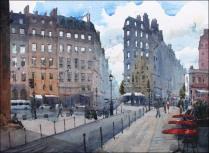 Bonne Nouvelle, Paris - Watercolour on paper © Jonathan Bray
