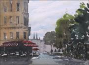Invalides, Paris - Watercolour on paper © Jonathan Bray 2015