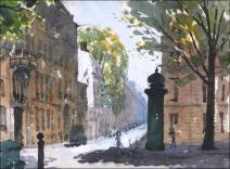Rue de Lille, Paris - Watercolour on paper © Jonathan Bray 2015