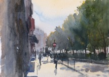 Boulevard de Clichy Paris 9 - Watercolour on paper © Jonathan Bray 2015