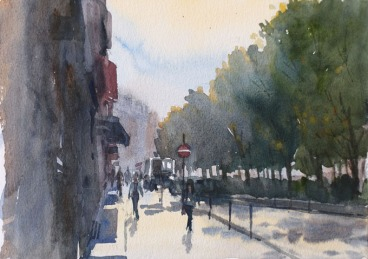Boulevard de Clichy Paris 9 - Watercolour on paper © Jonathan Bray 2015