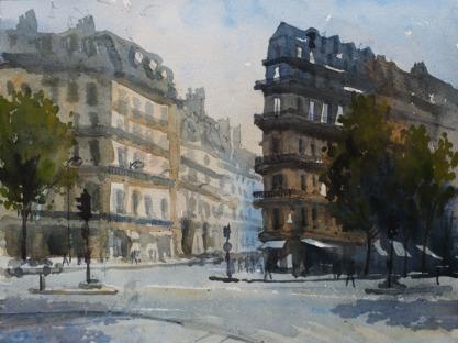 Bouvelard Malesherbs - Watercolour on paper © Jonathan Bray 2015