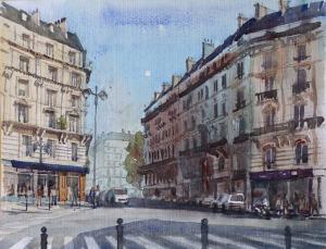 Rue de Dunkerque Paris 9e II - Watercolour on paper © Jonathan Bray 2015