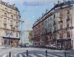 Rue de Dunkerque Paris 9e II - Watercolour on paper © Jonathan Bray 2015