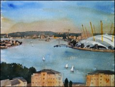 Bugsby's Reach, Thames London - Watercolour on paper © Jonathan Bray 2015
