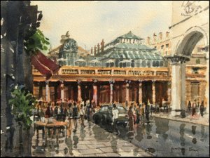 Covent Garden London - Watercolour on paper © Jonathan Bray 2015