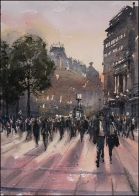 Leicester Square Winter Sunset- Jonathan Bray