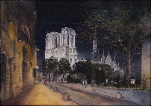 Notre Dame night - Jonathan Bray
