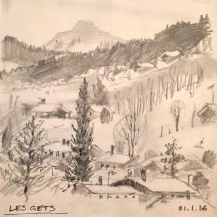 Les Gets sketch