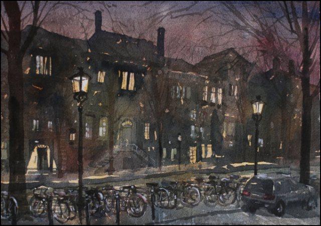 Stormy Night in Amsterdam