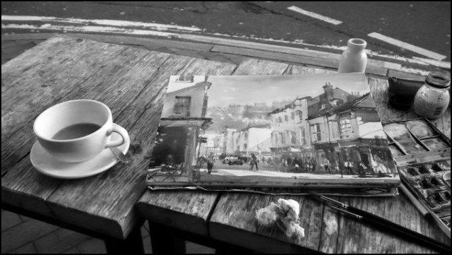 Brighton sketching