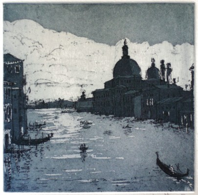 Grand Canal Winter - Etching and aquatint by Jonathan Bray