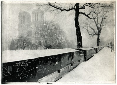 Notre Dame - Photopolymer etching by Jonathan Bray