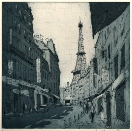 Paris Rue Saint Dominique - Etching and aquatint by Jonathan Bray