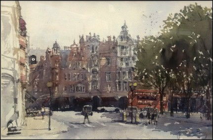 Watercolour on paper by Jonathan Bray