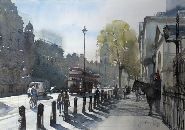 Watercolour of Whitehall by Jonathan Bray